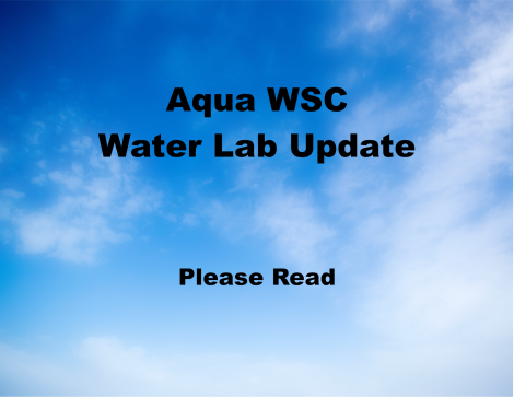 Aqua Water Lab update due to Covid-19 thumbnail